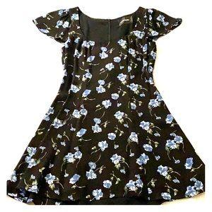 Reformation Linley Mini Dress black floral
